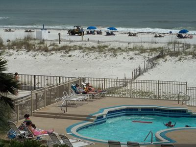 Right on the beach close to the Hangout and the Pink Pony!