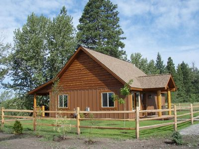 Photo for Peaceful pet-friendly cabin on Flathead River only 20 mins from Glacier Park