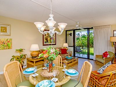 Photo for Garden View Steps to Beaches, Close to Pool, Spa, Tennis Courts & BBQ