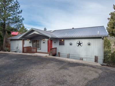 Photo for Cabin with Spectacular Views near Downtown w/ WiFi, Fireplace, Grill, & Hot Tub
