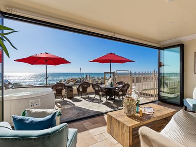 Photo for Luxury Oceanfront Condo with Patio, Spa, and BBQ.
