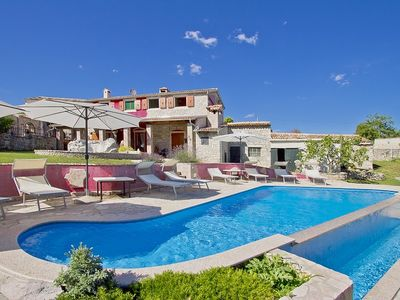 Photo for Special villa with private pool, 4 bedrooms, 2 bathrooms, Wi-Fi, air conditioning, barbecue, table tennis, table football, volleyball court and beautiful terrace