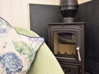 A wood burner to ensure you're warm and toasty