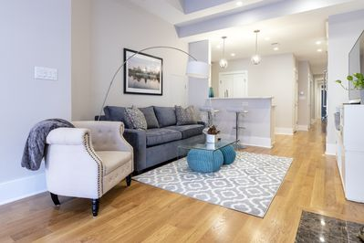 open and spacious sitting area