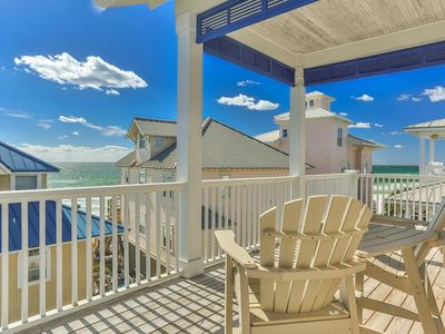 "Photo for 1 MINUTE TO THE BEACH - NEW RENTAL Summer Available Gulf Views!  ""All About The Twins"" lovely 5 BR home in Seagrove Beach."