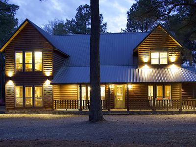 Photo for Running Creek Cabin - Luxurious 5bed/4bath Family-friendly Wooded Cabin