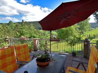 Photo for Detached holiday home with wonderful view, balcony and garden