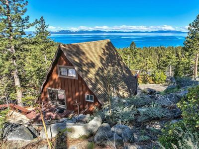Photo for NEW LISTING! Dog-friendly cabin w/ amazing Lake Tahoe view - walk to the beach!