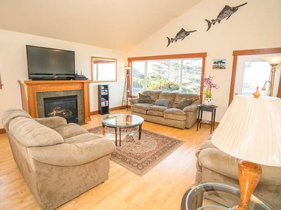 Photo for Panoramic Views from Two Upper-Floor Decks in Central Lincoln City!
