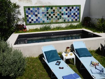 Photo for Private garden and pool in Alfama, very spacious and quiet, max. 12 people