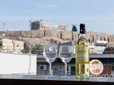 Photo for Apartment 130m² - Roof Garden with Acropolis View