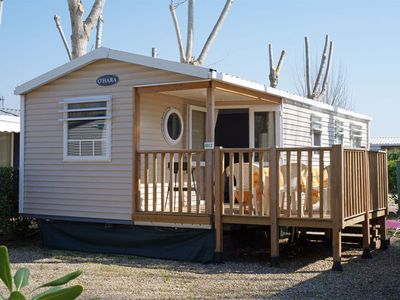 Photo for Luxury mobile homes on a small friendly campsite close to the beach