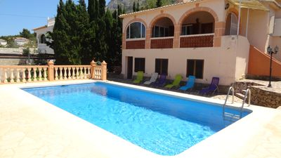 Photo for Large holiday home with private pool, 6 persons, free WiFi, sea view, quiet