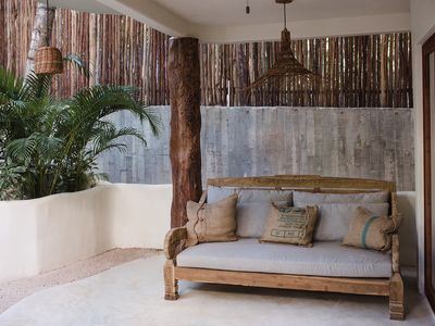 Photo for Beautiful house on Tulum Beach with private rooftop patio! Sleeps 6-8.