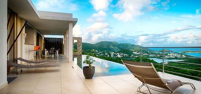 Villa Sunrise  -  Ocean View - Located in  Tropical Orient Bay with Private Pool