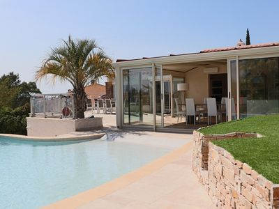 Photo for Frejus: Air-conditioned T6 villa with pool and activities
