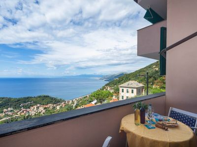 Photo for Charming apartment, breathtaking seaview and pool