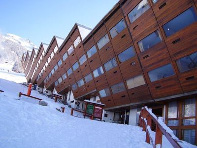 Photo for 50m from ski slopes, 1st floor, view firs, balcony, tv, ski locker, 30m², Les Arcs