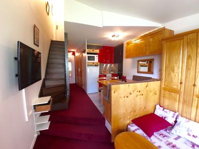 Photo for Charming duplex apartment 36 m2 - 6 people - Apartment building Snow - center Avoriaz