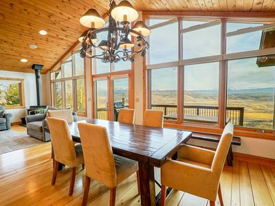 Photo for Stunning continental divide views with an outdoor fire pit, private hot tub and room to spread out.