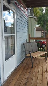 Seating on the front porch is always welcoming and comfortable