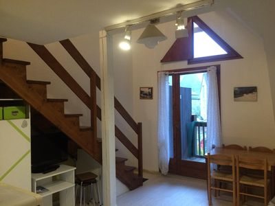 Photo for T2 Duplex Apartment Cabin at the foot of the cable car (parking, cellar)