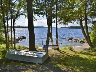 Photo for Green Lake Retreat With Beautiful Private Sandy Beach Near Bar Harbor And Acadia