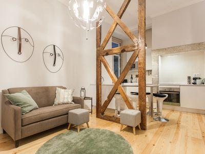 Photo for Old Style renovated apartment in the heart of Lisbon Historical Downtown!