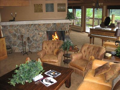 Fireplace Living and Dining