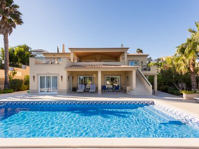 Photo for Luxurious 5 Bedroom Villa With Private Pool, Hot Tub And Stunning Sea Views