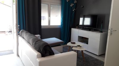 Photo for Maisonette for 2 quiet with garden + WIFI near the beach