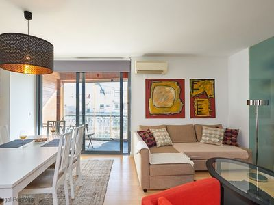 Photo for Modern 3 BR apartment, sleeps 8 - located in the heart of Cascais, 100 m away from beach