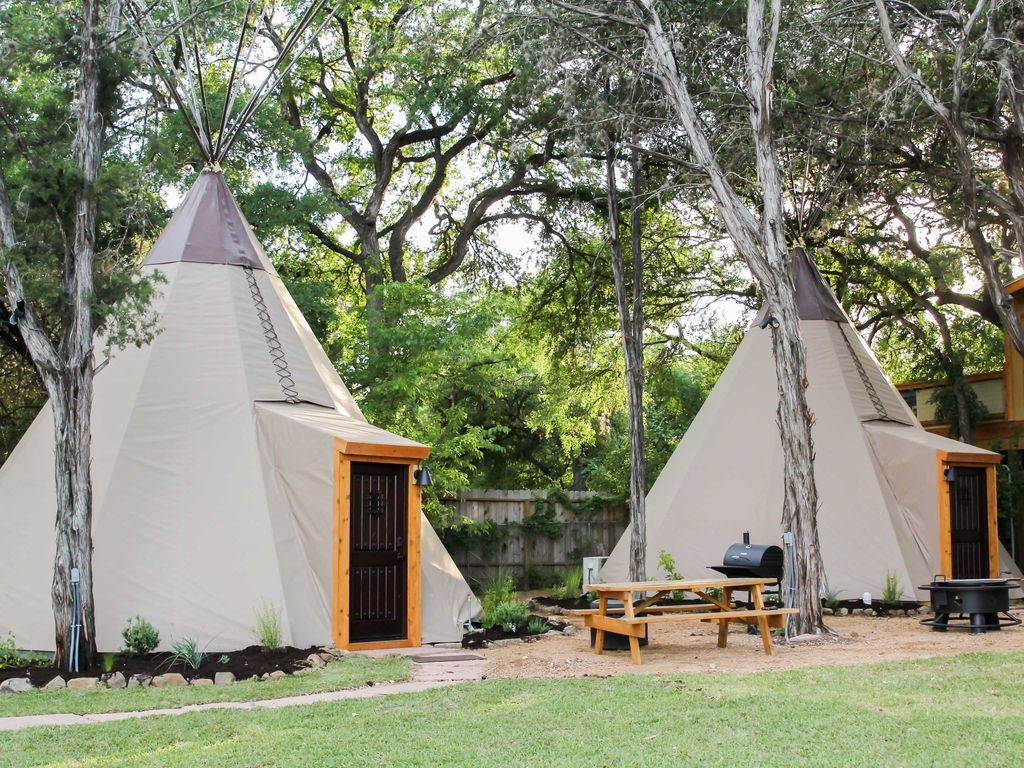 amazing tipis reservation on the guadalupe homeaway new