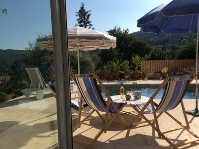 Photo for SEILLANS, VILLA 117 LA CHIRANE 5 minutes walk from the village, swimming pool.