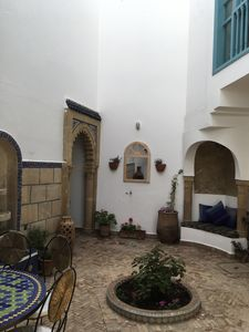 Courtyard - entrance and reading nook