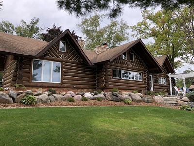 Photo for Lakefront  Log  Home