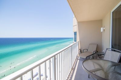 Beautiful views from your beach front balcony