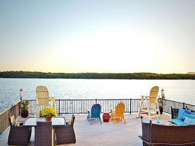 Photo for NEW LISTING! Beautiful lakefront home w/ lake views, dock & entertainment!