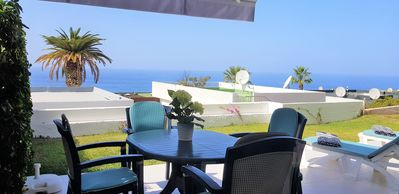 Photo for In popular Los Gigantes with large private garden and terrace with sea views