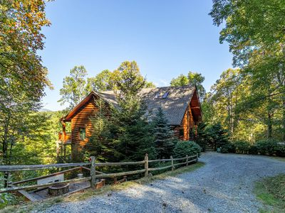 Photo for Black Bear Lodge ~ Long Range Mountain Views, Wood Burning Fireplace, Valle Crucis Area