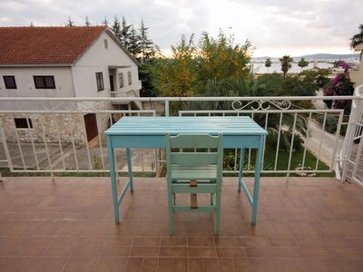 Photo for One bedroom apartment with terrace and sea view Sukošan, Zadar (A-5863-b)