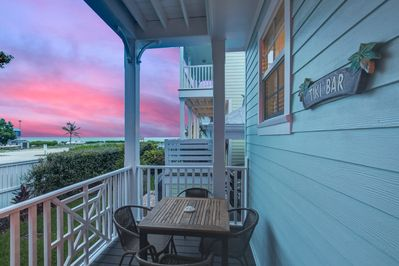 Sunrise over the ocean from downstairs porch