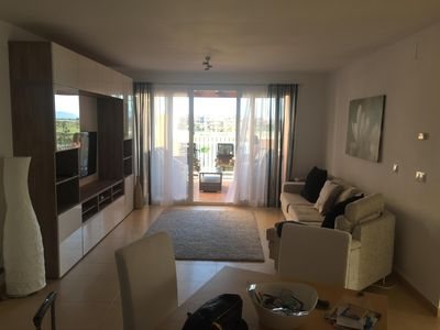 Photo for Large 3 Bed, 2 Bath, Frontline Golf, South Facing, Golf, Lake & Pool Views, WIFI