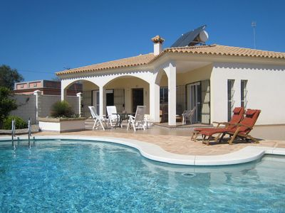 Photo for Detached villa with a large private swimming pool.