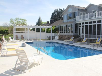 Photo for Heron's Landing - Lakefront Home, Swimming Pool, Hot Tub, Boathouse, 6 Bedroom