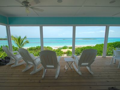 Photo for Bita Breeze - Beautiful New Beachfront Home on Green Turtle Cay