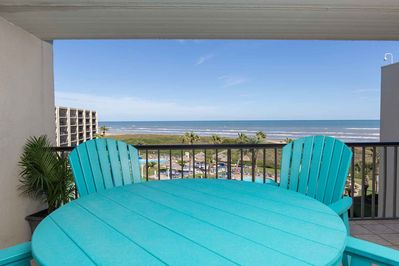 Enjoy the view and island breeze from the private balcony.