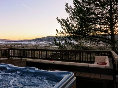 Photo for Beautiful Views, Huge Deck, Hot Tub, 4 Bed 3000 sq ft home on Mountain