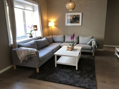 Photo for Central Oslo: Modern four-bedroom flat in quiet and charming neighbourhood