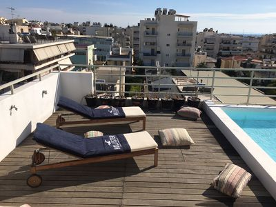 Sun loungers and pillows to relax